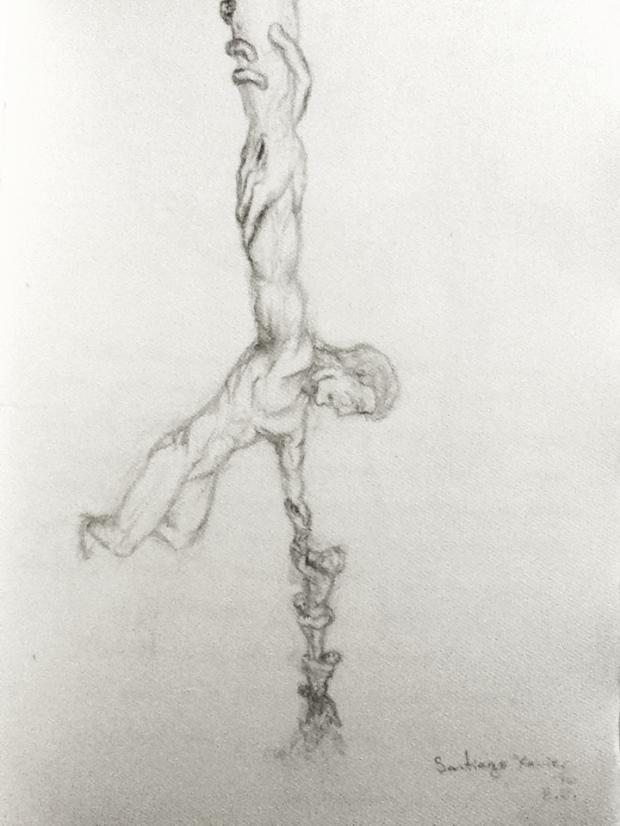 """""""El Ancla de lo Eterno"""", Boceto en lápiz sobre papel"""