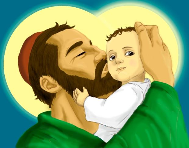 San José y el Niño. Imagen realizada digitalmente