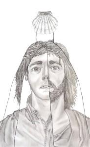 Otro Cristo.Lápiz y lapicero sobre papel